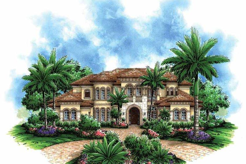 Dream House Plan - Mediterranean Exterior - Front Elevation Plan #1017-45