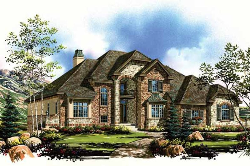 Architectural House Design - Country Exterior - Front Elevation Plan #945-67