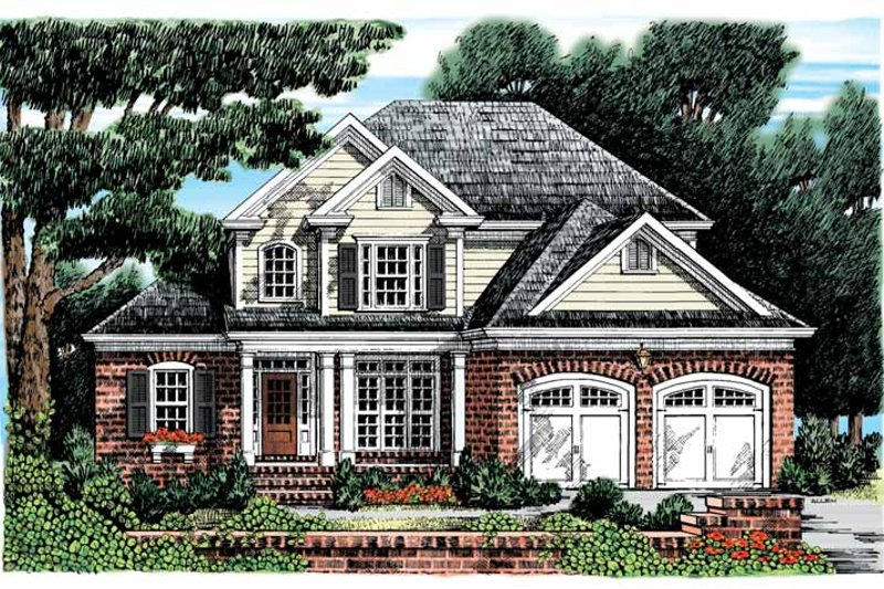Colonial Exterior - Front Elevation Plan #927-870
