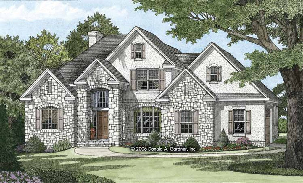 European style house plan 4 beds 3 baths 2130 sq ft plan for European style house