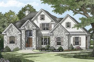 European Exterior - Front Elevation Plan #929-816