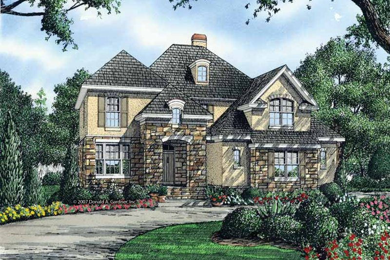 Cottage Exterior - Front Elevation Plan #929-843