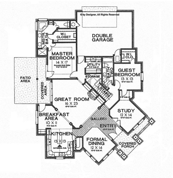 Traditional Floor Plan - Main Floor Plan Plan #310-1254