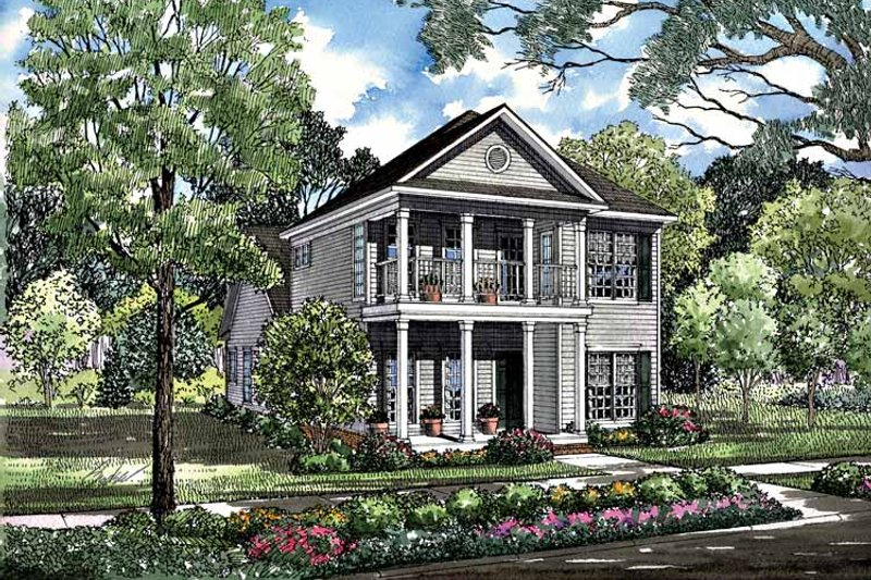 Home Plan - Classical Exterior - Front Elevation Plan #17-3095