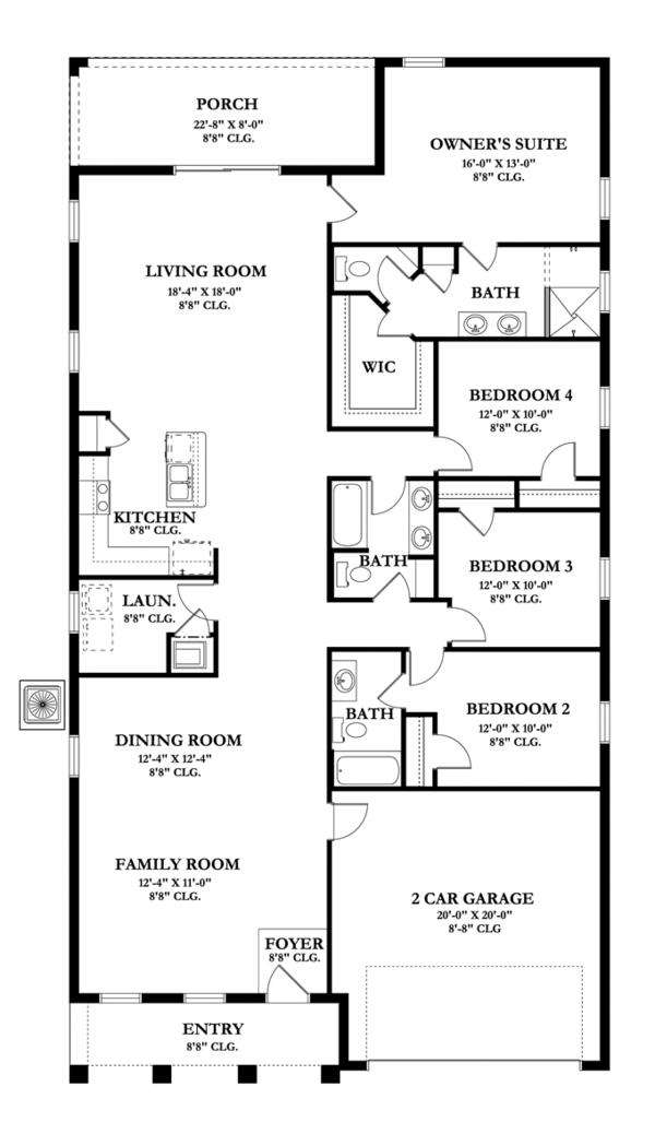 Architectural House Design - Mediterranean Floor Plan - Main Floor Plan #1058-59