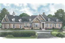 House Plan Design - Traditional Exterior - Front Elevation Plan #453-547
