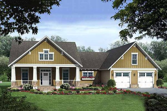 Craftsman Plan 21-275 front elevation