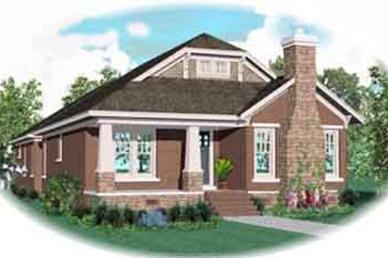 Bungalow Style House Plan - 3 Beds 3 Baths 3160 Sq/Ft Plan #81-1190