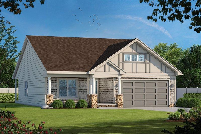 Home Plan - Tudor Exterior - Front Elevation Plan #20-2447