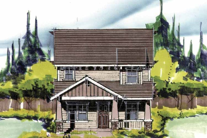 Prairie Exterior - Front Elevation Plan #509-223