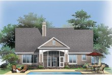 Craftsman Exterior - Rear Elevation Plan #929-916