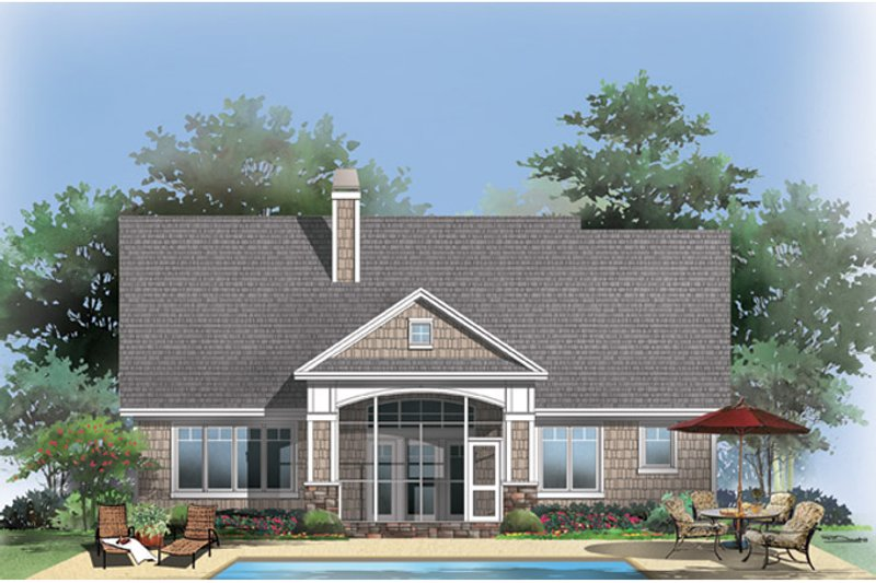 Craftsman Exterior - Rear Elevation Plan #929-916 - Houseplans.com