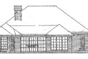 European Style House Plan - 3 Beds 2.5 Baths 2010 Sq/Ft Plan #310-919 Exterior - Rear Elevation
