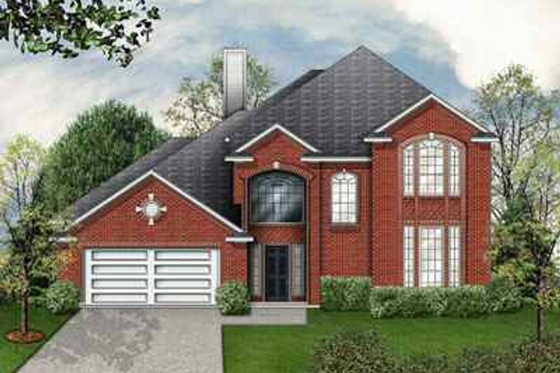 Dream House Plan - Traditional Exterior - Front Elevation Plan #84-140