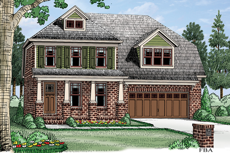 Colonial Exterior - Front Elevation Plan #927-975 - Houseplans.com