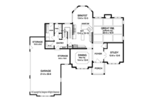 Traditional Floor Plan - Main Floor Plan Plan #1010-172