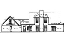 Country Exterior - Rear Elevation Plan #40-340