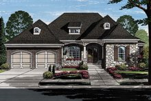 European Exterior - Front Elevation Plan #46-855