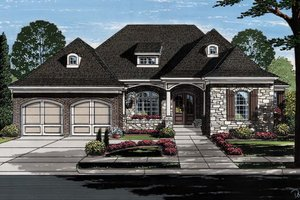 Dream House Plan - European Exterior - Front Elevation Plan #46-855