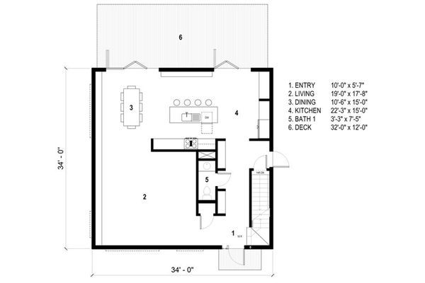 Modern Floor Plan - Main Floor Plan Plan #497-26
