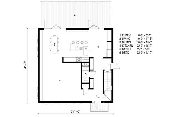 Architectural House Design - Modern Floor Plan - Main Floor Plan #497-26