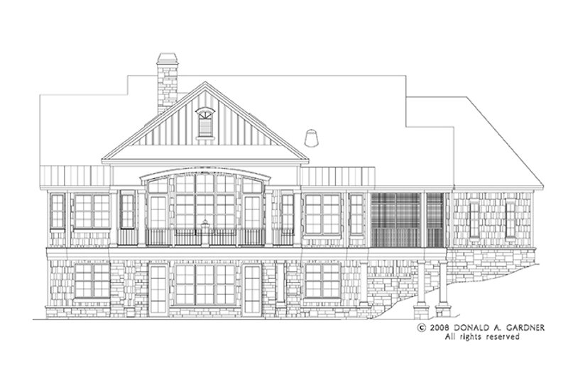 European Exterior - Rear Elevation Plan #929-906 - Houseplans.com
