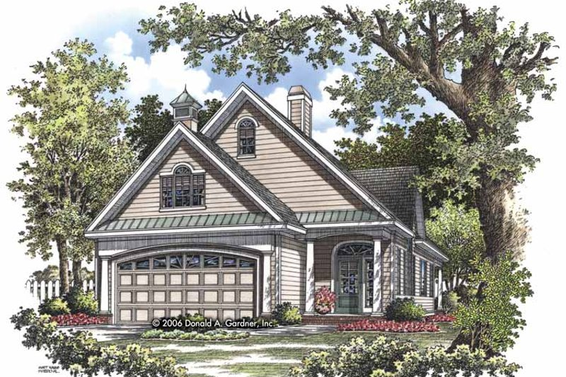 Ranch Exterior - Front Elevation Plan #929-825 - Houseplans.com