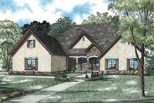 European Exterior - Front Elevation Plan #17-3331