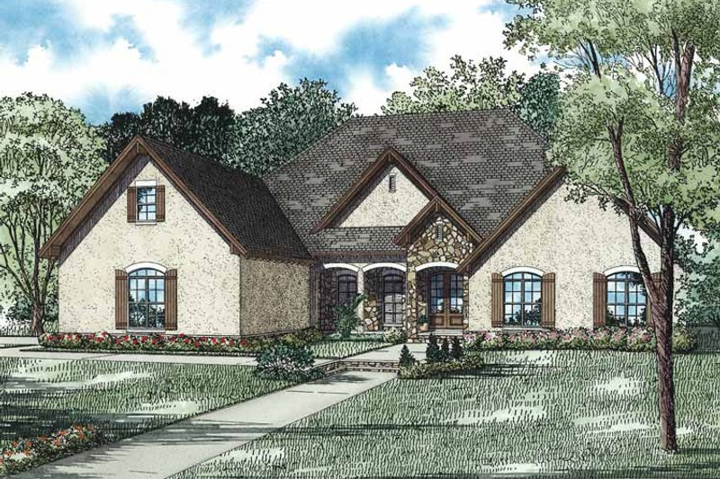 House Plan Design - European Exterior - Front Elevation Plan #17-3331