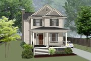 Craftsman Style House Plan - 4 Beds 3 Baths 1646 Sq/Ft Plan #79-304 Exterior - Front Elevation