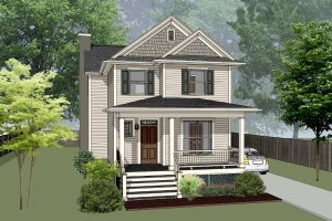 Craftsman Exterior - Front Elevation Plan #79-304
