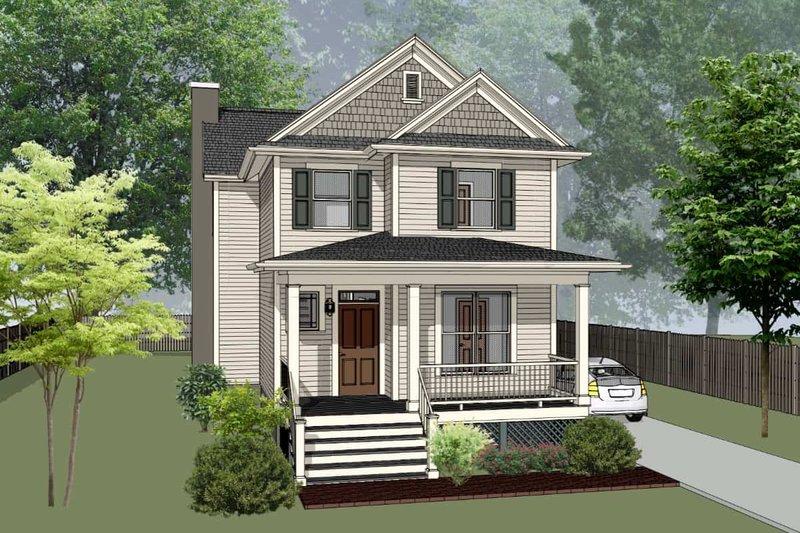 Dream House Plan - Craftsman Exterior - Front Elevation Plan #79-304