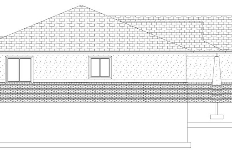 Ranch Exterior - Other Elevation Plan #1060-9 - Houseplans.com