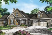 Country Style House Plan - 3 Beds 3.5 Baths 3101 Sq/Ft Plan #929-993 Exterior - Front Elevation