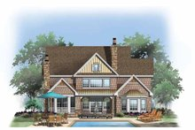 Craftsman Exterior - Rear Elevation Plan #929-832