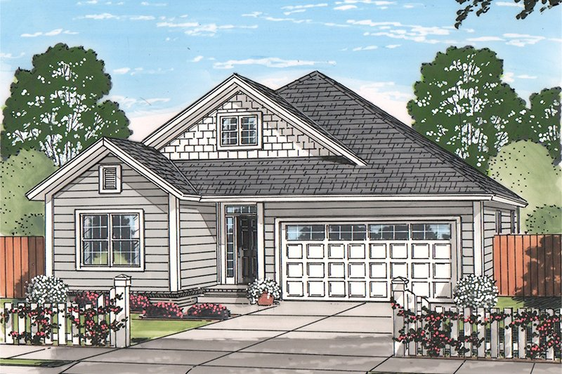 Country Exterior - Front Elevation Plan #513-2166