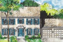 Classical Exterior - Front Elevation Plan #953-1