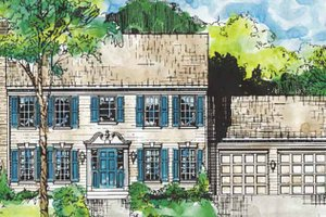Dream House Plan - Classical Exterior - Front Elevation Plan #953-1