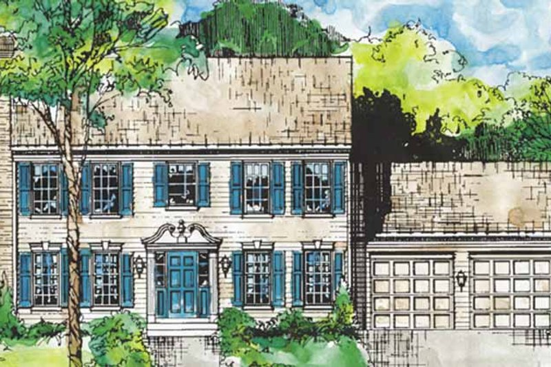 Home Plan - Classical Exterior - Front Elevation Plan #953-1