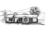 Ranch Style House Plan - 3 Beds 2 Baths 1032 Sq/Ft Plan #30-108 Exterior - Front Elevation