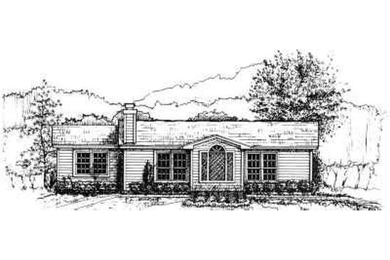 Ranch Style House Plan - 3 Beds 2 Baths 1032 Sq/Ft Plan #30-108