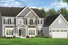 Colonial Exterior - Front Elevation Plan #1010-169
