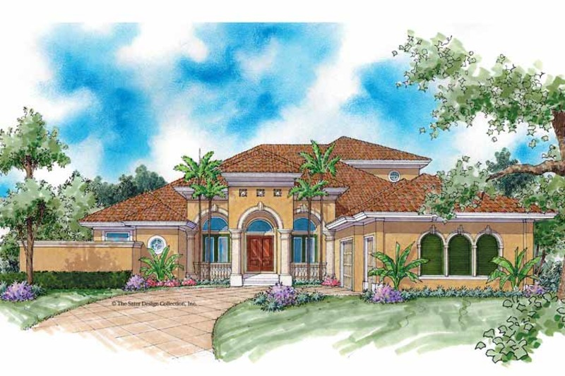 Mediterranean Exterior - Front Elevation Plan #930-337 - Houseplans.com