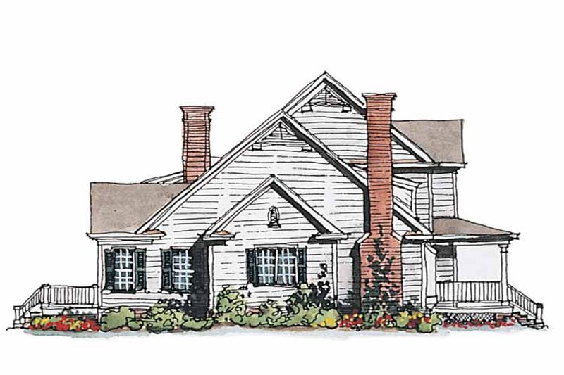 Classical Exterior - Other Elevation Plan #429-188 - Houseplans.com