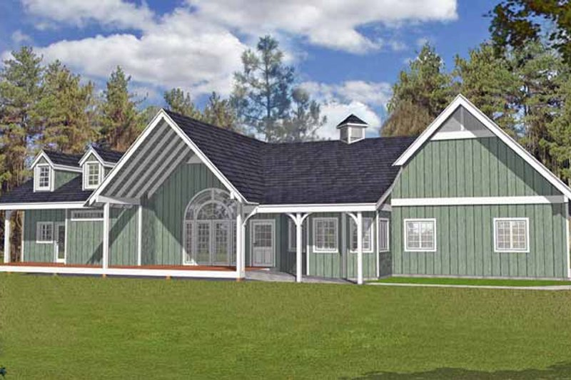 Traditional Exterior - Front Elevation Plan #1037-29