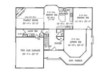 Country Floor Plan - Main Floor Plan Plan #314-268