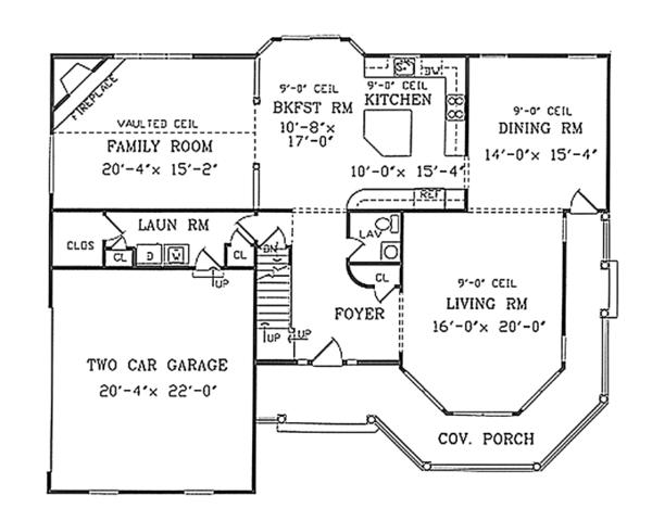 Home Plan - Country Floor Plan - Main Floor Plan #314-268