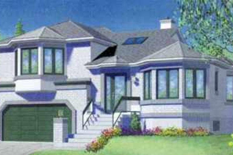 European Style House Plan - 3 Beds 2 Baths 1833 Sq/Ft Plan #25-364 Exterior - Front Elevation
