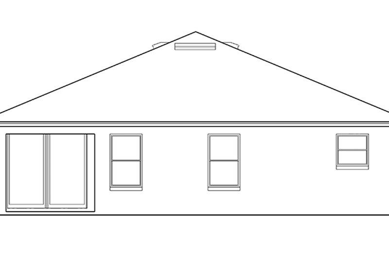 Craftsman Exterior - Rear Elevation Plan #1058-71 - Houseplans.com