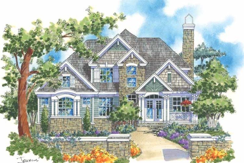 Traditional Exterior - Front Elevation Plan #930-113 - Houseplans.com